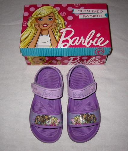sandalias barbie talle 28