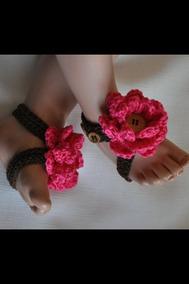 Descalsos 2 Pare Perlas Pies Crochet Y Bebe Sandalias uTJlFc31K