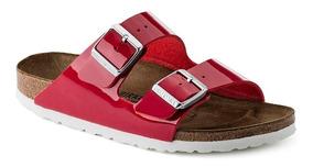 Flor Patent Tango Birkenstock Arizona Sandalias Birko Red iPkOXZuT