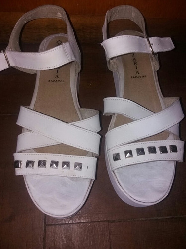 sandalias blancas nazaria nro 38