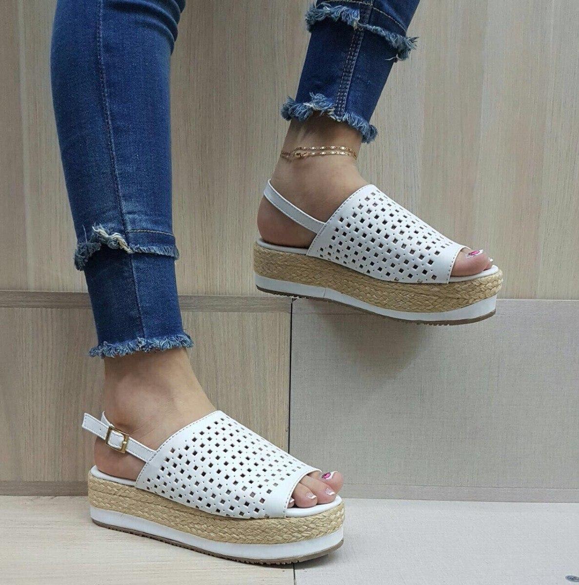 Sandalias Yute De Blancas Lindos Moda Dama El Calzado Más 0Nw8mn