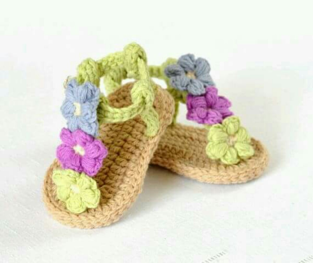 a349df6f sandalias, calzado para bebe, tejidas en crochet más modelos. Cargando zoom.