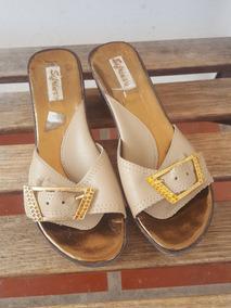 Cuero Sandalias Zapatos Chavalas MujerUsado Color En Suela SpzqMGUV