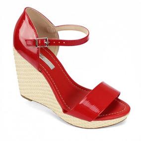 e8279ce561 Sandalia Feminina Moleca Ana Bela Salto 11cm Vermelho