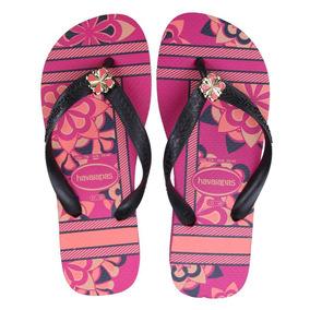 f2961ba66d Chinelo Feminino Havaianas Top Gracia Rosa Preto