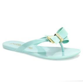 0396afd5d5 Rasteira Com Laço E Glitter Dourada Petite Jolie Rasteiras - Sapatos ...