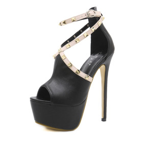 b009276bc8 Sapato Feminino Importado Salto Alto Gladiador