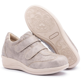 b72dd6e4ebc Sapato Tênis Feminino Salto Anabela Confort Macio 4 Cores