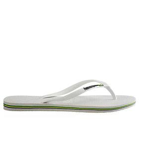 9833a01adc Chinelo Havaianas Slim Elegance Couro Feminino - Calçados