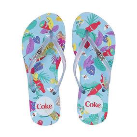 419810c104 Chinelo Coca Cola Feminino Novo - Chinelos para Feminino Azul no ...