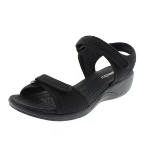 baddcce49b Azaleia Sandalia Anabela Preta De Velcro Frete Gratis - Sapatos no ...