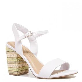 4bf5f8325 Sandalia Tanara N 36 Salto De Madeira Feminino Sandalias - Sapatos ...