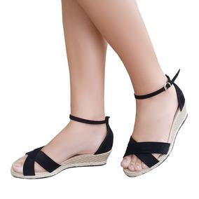 4dcbf0827 Sandalia Anabela Preta Mariotta - Sapatos para Feminino no Mercado ...