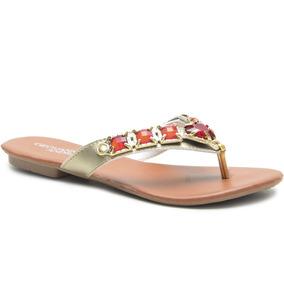 354b5ee11 Sandalias Rasteirinhas Decoradas Com Pedras Brilhantes - Sandálias e  Chinelos Rasteiras para Feminino Dourado no Mercado Livre Brasil