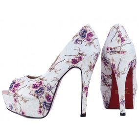 3220419001b69 Tamanco Laura Prado Salto Baixo Nude Torricella - Sapatos no Mercado ...