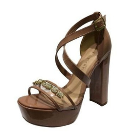 193f09faab Sandália Feminina Crysalis 40356055 Salto Grosso Verniz - Sapatos ...