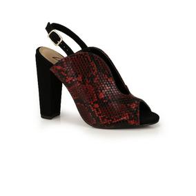 ef625290b Sandalia Lara Salto Grosso Feminino Sandalias - Sapatos no Mercado ...