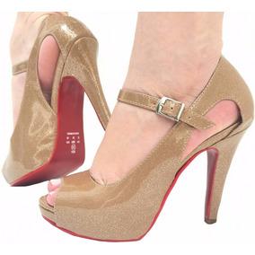 b0da9c2050 Sapato Scarpin Solado Oncinha Vermelho - Sandálias e Chinelos para ...