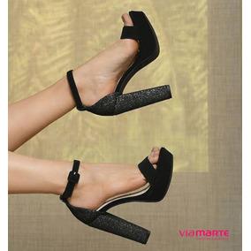 de36a4f755 Sandálias Nova Coleção Via Marte - Sapatos Preto no Mercado Livre Brasil