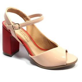 609eae4383 Tamanco Salto Medio 1617201 Ramarim (33) Amendoa Numero 39 - Sapatos ...