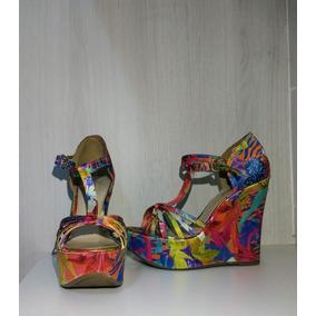 c6dc52598b Sandalia Anabela Constance - Sapatos para Feminino no Mercado Livre ...