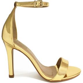 081bf20715 Le Chic Linda Sandalia Sapato Dourado Tam 39 (26cm) - Sapatos no ...