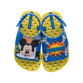 9fdb8d97f49 Sandália Mickey Azul Disney Infantil Grendene 17 Ao 24