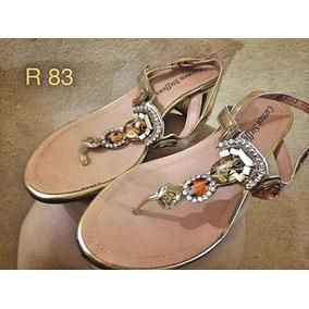 b4e04a62d Sandalia Carmen Steffens Chinelos - Sapatos para Feminino Dourado no ...