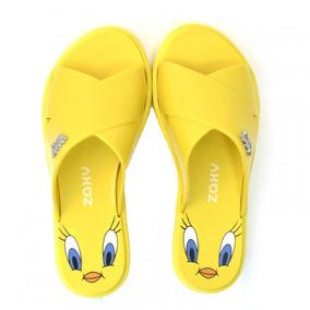 db0f680a70 Chinelo Slide Zaxy Looney Tunes - 17762 - Vizzent Calçados