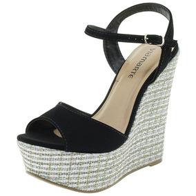 a08c5a5f9d Sandalia Feminina Via Marte Dalia Anabela - Sapatos no Mercado Livre ...