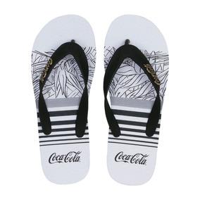 6bf5e9c0d2 Chinelo Coca Cola Shoes Estampa Branco Tam  39 40 Original