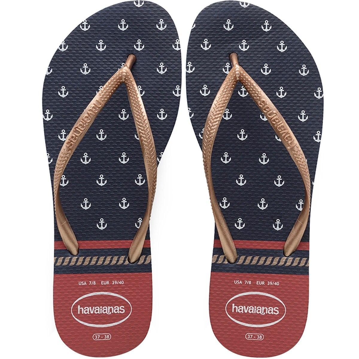 7fc9491d482fa sandálias chinelos havaianas slim nautical. Carregando zoom.