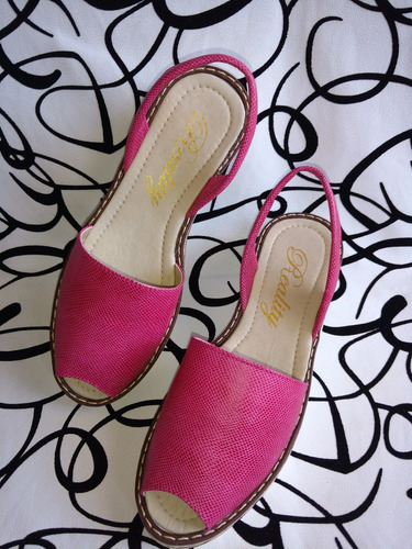 sandalias colombianas en cuero fucsia señoras envío gratis