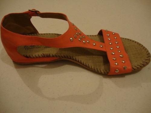 sandalias color  con estoperoles envío gratis