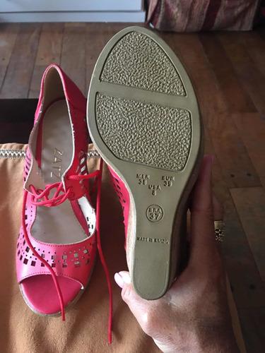 sandalias color coral nuevas divinas
