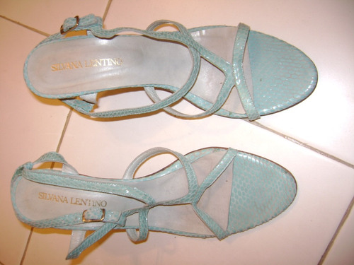 sandalias color turqueza silvana lentino