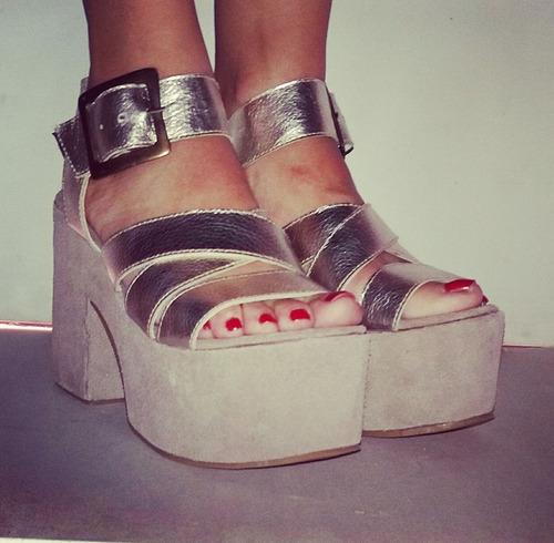 sandalias con plataforma!