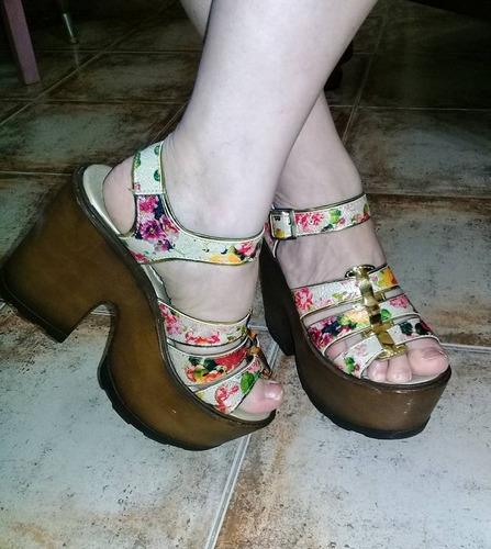 sandalias con plataforma comodas, hermosas y nuevas