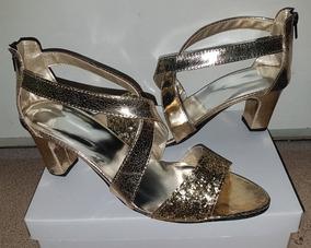 Mujer Plateada Calzado 41 Talla Doradas Grande Sandalias 11 F7g6yyb OP8kn0w