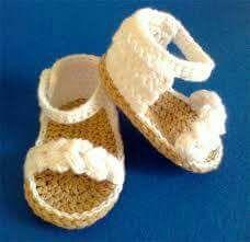 526eeb9ea Ojotas Bebe Crochet en Mercado Libre Argentina