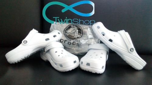 sandalias crocs clasicas para dama oferta (blanca y negra)