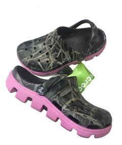 Para Mujer Duet Camufladas Crocs Sport Tractor Sandalias mvONnw80
