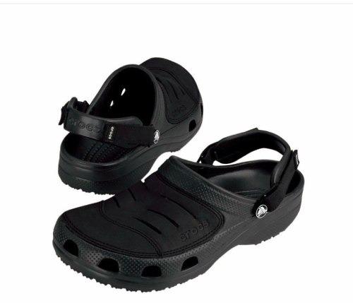 Hombre Gratis Negro Cuero Sandalias Crocs Yukon Envio cTKFJ1l
