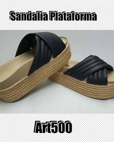 sandalias cruzadas con plataforma nueva temporada