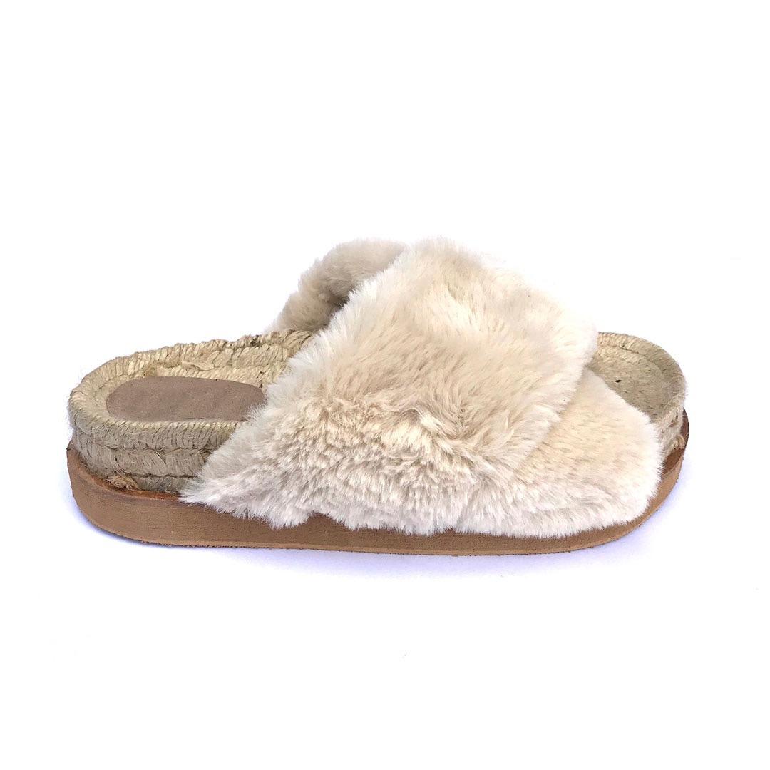 b47b2cc0a95 sandalias cruzadas piel pelo yute zapatos mujer verano 2019. Cargando zoom.
