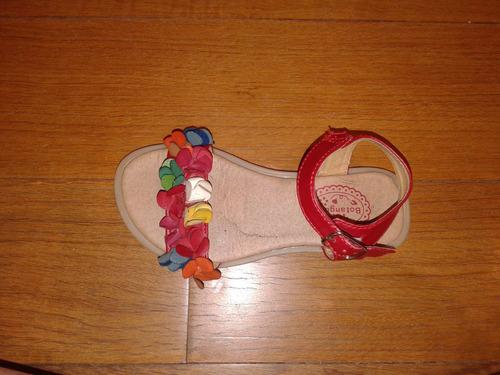 sandalias cuero nena, marca botanguita, talle 27-28