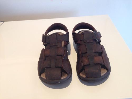 sandalias cuero niño talla 16 mexicano stride rite.