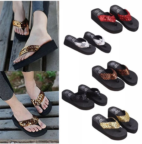 sandalias dama  plataforma alta (detal y mayor)