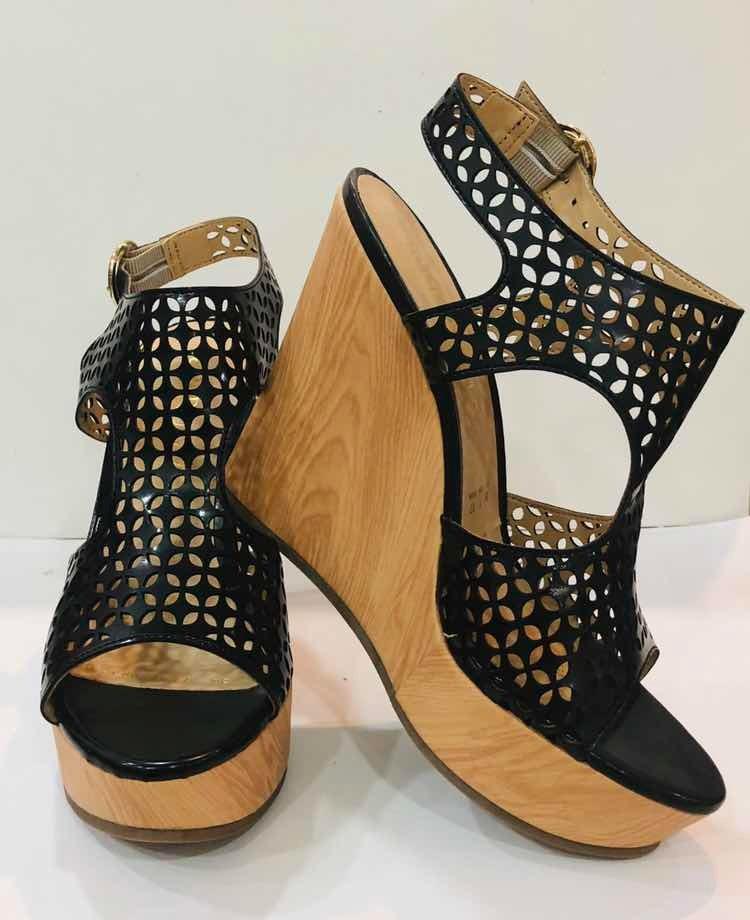 c7e2bc09537 sandalias dama plataforma negros moda mujer zapatos tacón co. Cargando zoom.