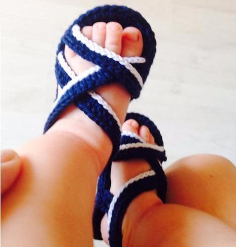 sandalias de bebetejidas(c/caja y tarjeta)